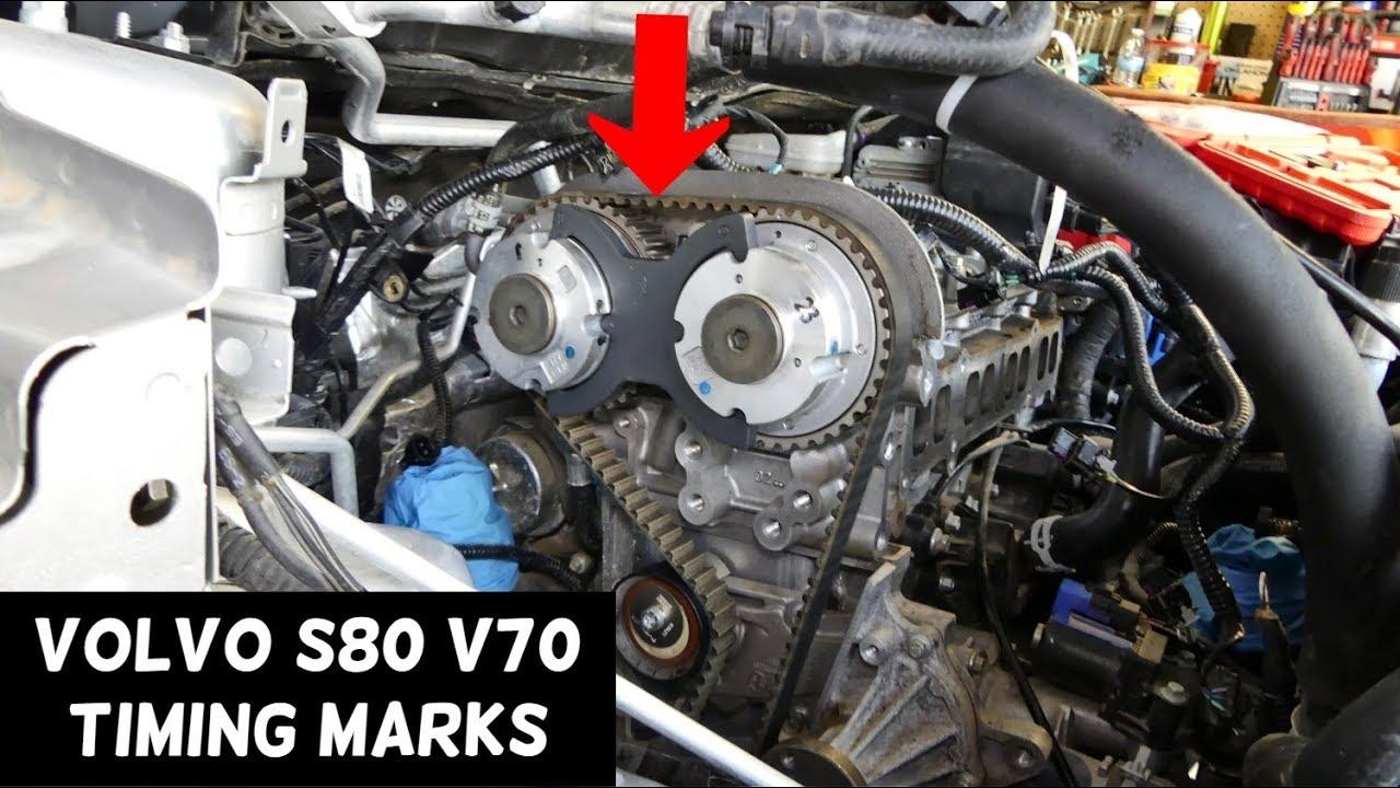 hight resolution of timing marks volvo s80 v70 t4 engine 1 6 timing belt youtube volvo s80 timing belt diagram volvo s80 timing belt diagram