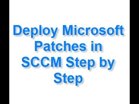 Deploy Microsoft Patches In SCCM Step By Step
