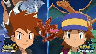 Pokemon Battle USUM: Gary Vs Ritchie (Ash's Rival Kanto Vs Johto)