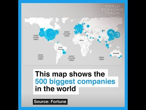 This map shows the 500 biggest companies in the world