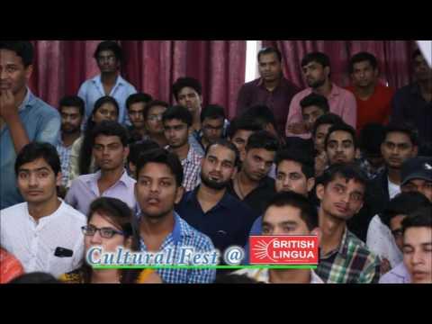 Dr Birbal Jha Motivates Students in Cultural Fest @ British Lingua