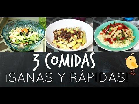 3 COMIDAS SANAS Y RÁPIDAS | SIILVIA123BELLA