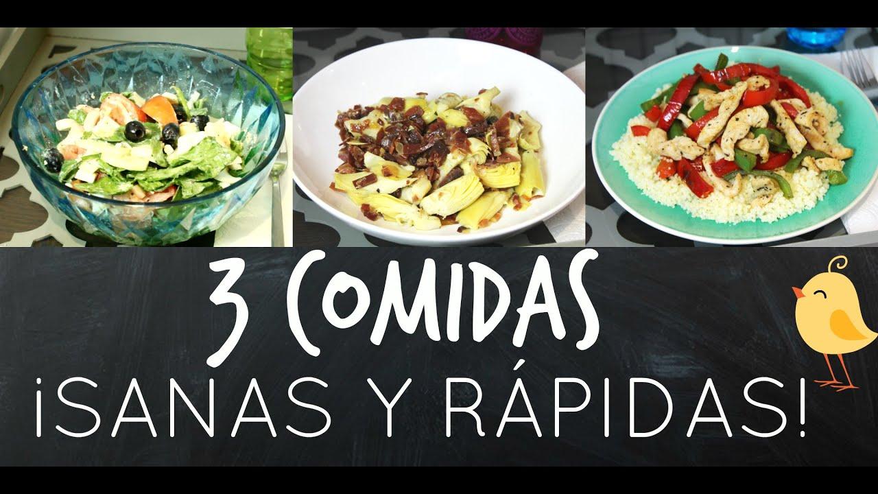 3 comidas sanas y r pidas siilvia123bella youtube for Comidas rapidas y sanas