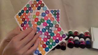 ASMR Soft Whispering Putting Labels on Essential Oils