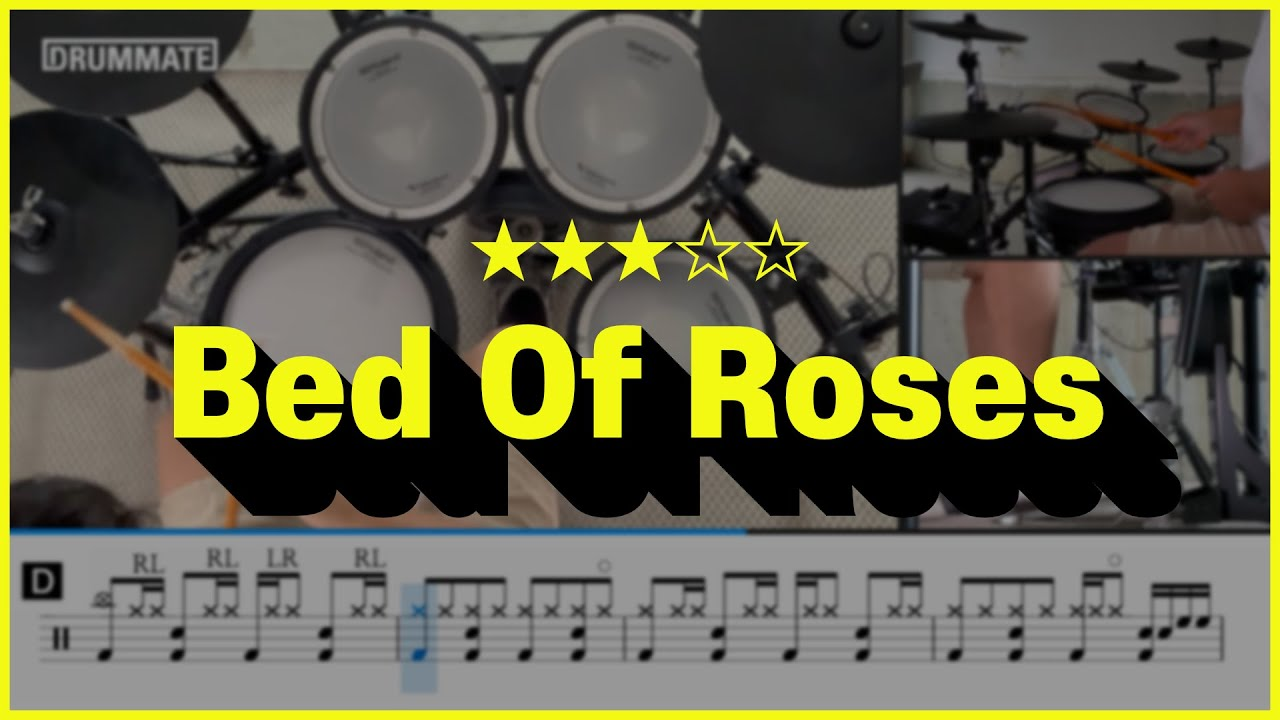 Bed Of Roses Bon Jovi Pop Drum Cover Youtube