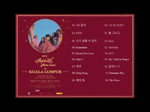 2018 Apink Asia Tour in Malaysia [PLAYLIST]