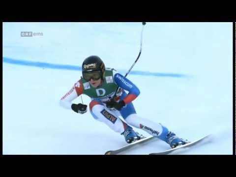 10.02.2013 Ski Alpin WM Abfahrt/Downhill Schladming Lara Gut im Pech!