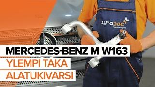 MERCEDES-BENZ ML-sarja korjaus tee se itse - auton opetusvideo