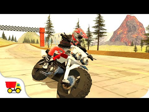 Bike Racing Games - Action Bike Rider Volcano - Gameplay Android free games