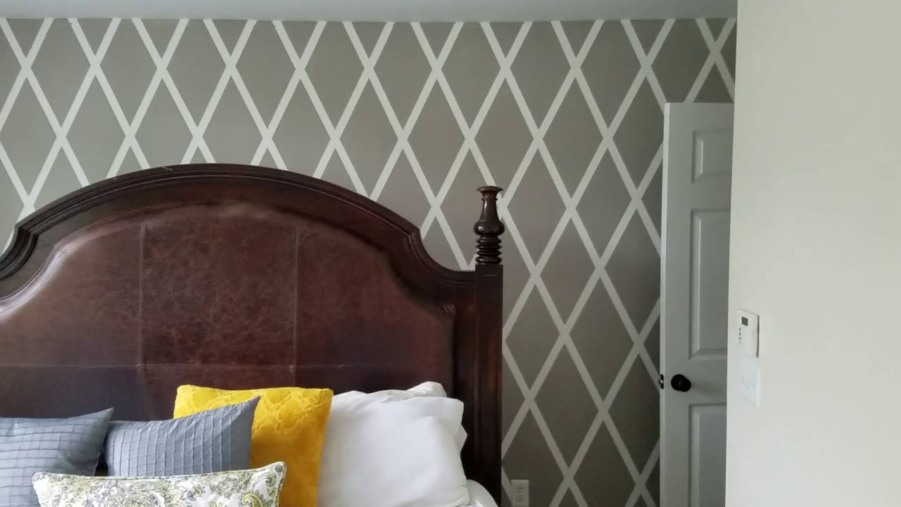 Diy Diamond Accent Wall Part 2 Youtube