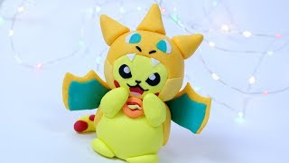 FLYING PIKACHU FIGURE! How to make pokemon pikachu fondant cake topper