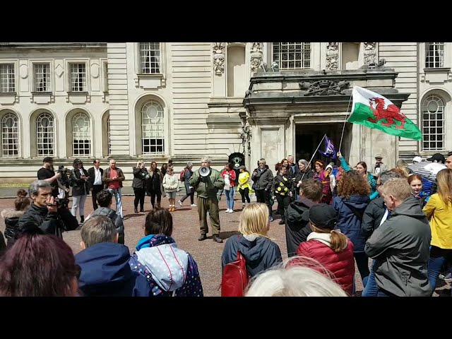 WORLD WIDE RALLY FOR FREEDOM: CITY HALL, CARDIFF