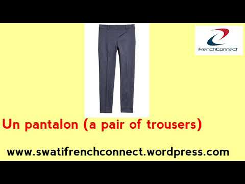 Some of the french vocabulary words related to clothing