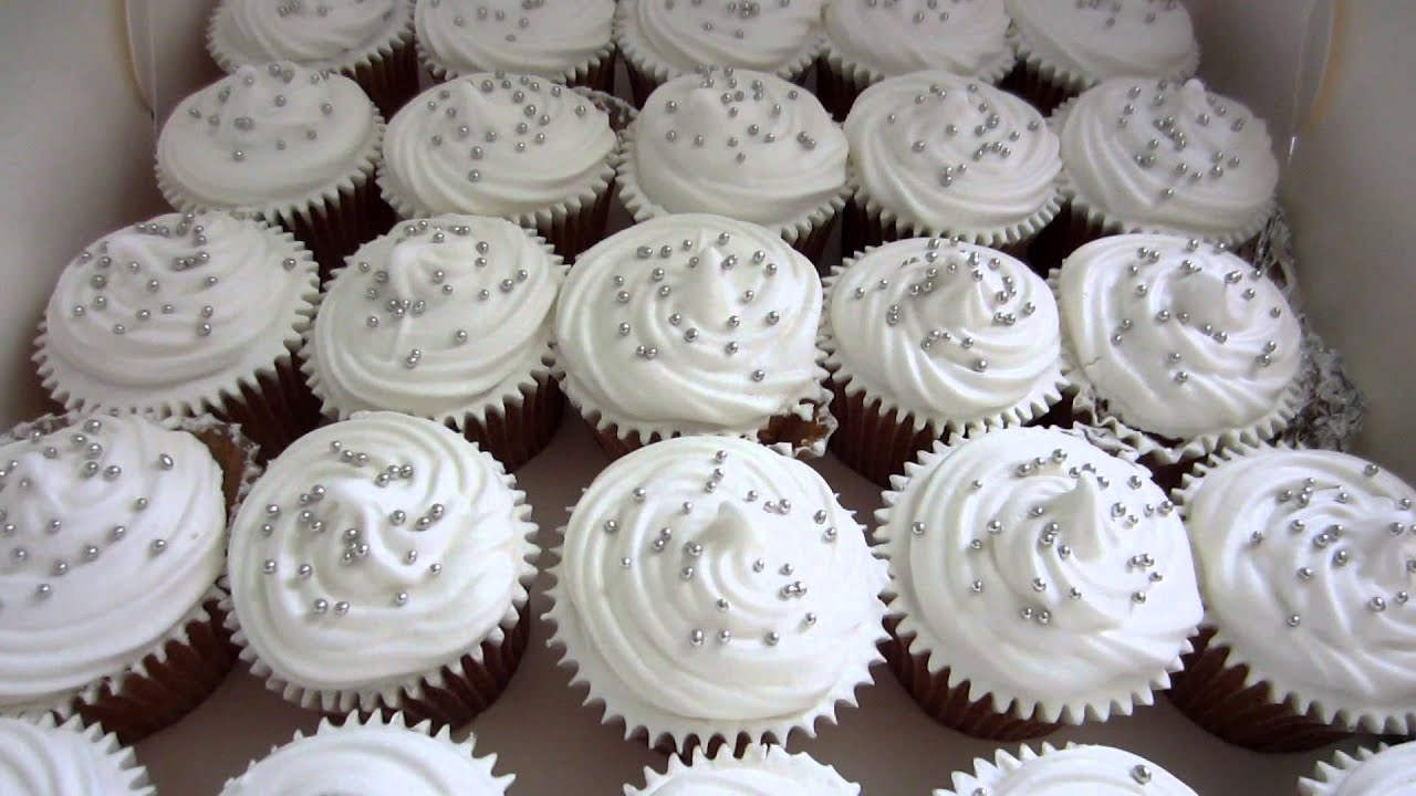 Wedding Cupcakes  White  for Susan   Chris   YouTube
