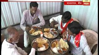 स्पेशल रिपोर्ट : माजलगावमध्ये शेतकऱ्यांसाठी एका रुपयात पोटभर जेवण