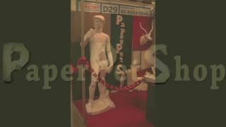 Papercraft Time-lapse statue of David
