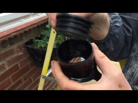 How to install a soil pipe boss for a 40mm waste water pipe