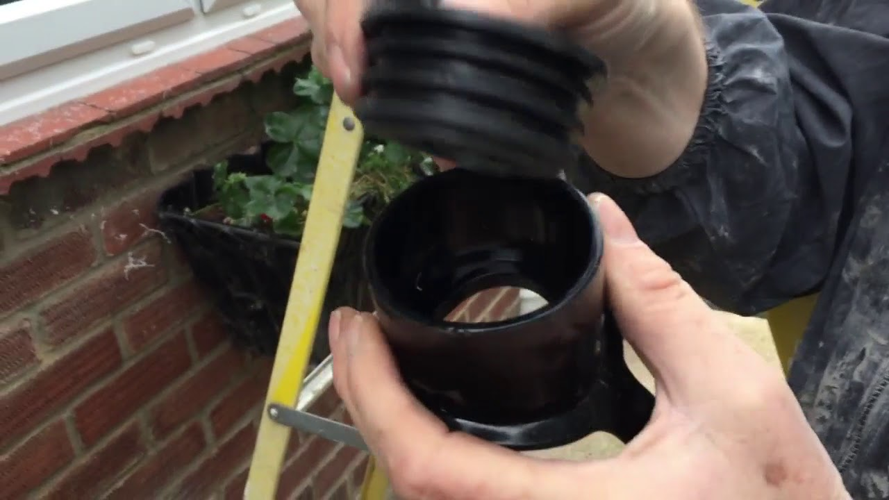 How to install a soil pipe boss for a 40mm waste water pipe & How to install a soil pipe boss for a 40mm waste water pipe - YouTube