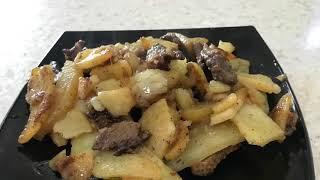 653. Утиное филе жаренное с картофелем.