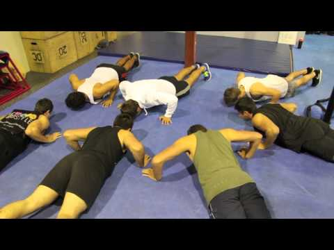 Members Trying Mo Flower Push Ups