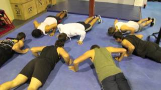 "Members Trying Moby ""Flower"" Push Ups"