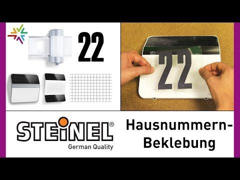 STEINEL Hausnummernleuchten: Hausnummern / Ziffern Aufkleben [watt24-Video Nr.154]