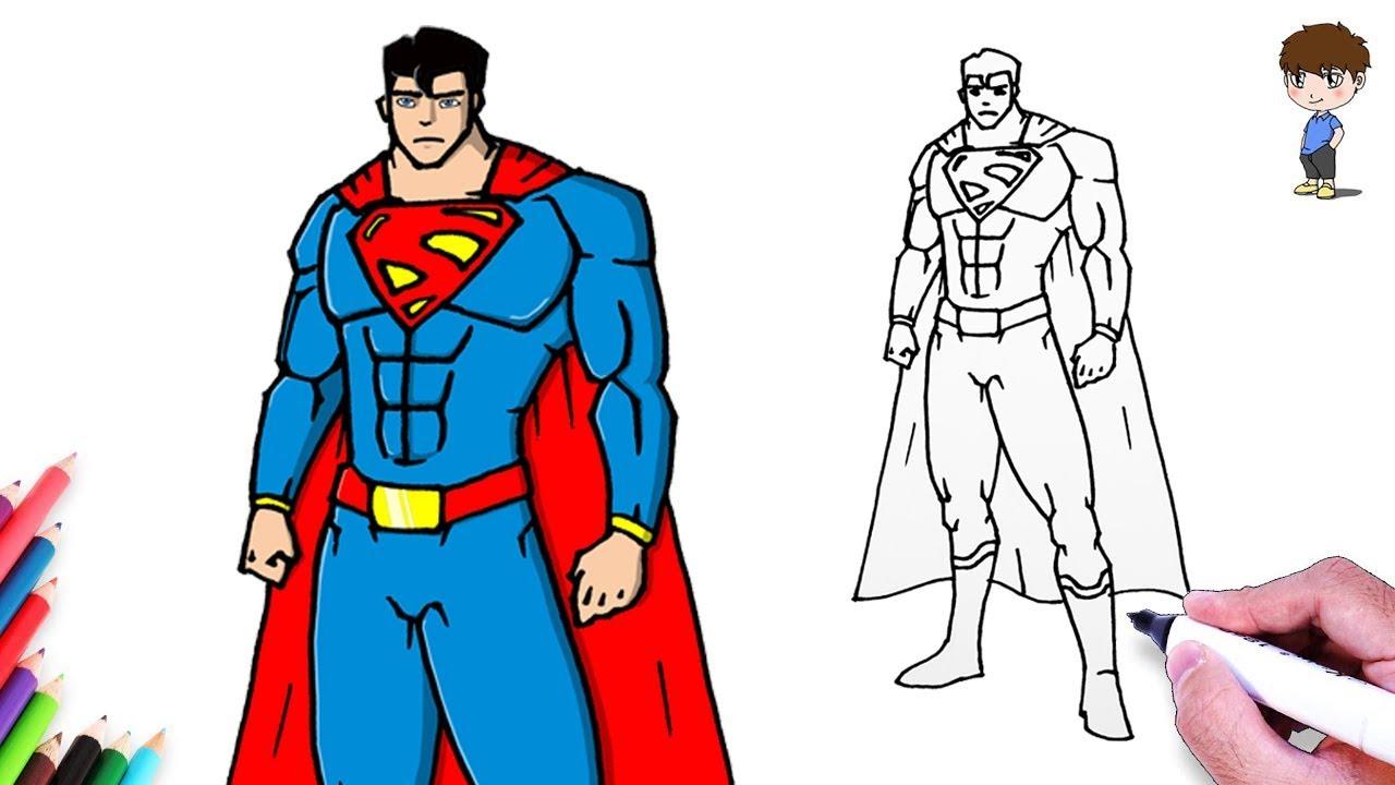 Comment Dessiner Superman Facilement Dessin Facile A Faire