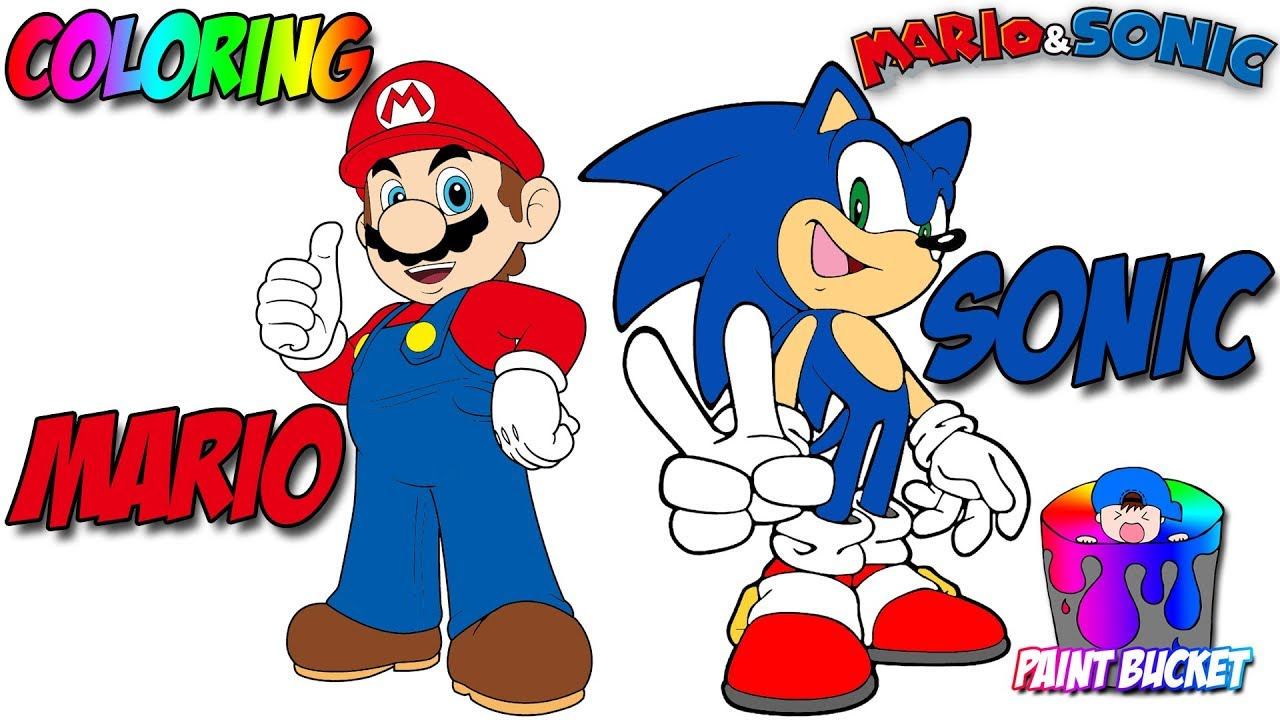 How to Color Super Mario and Sonic the Hedgehog - Mario ...