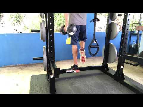 Entrenador JM - One Legged Dumbbell Calf Raise