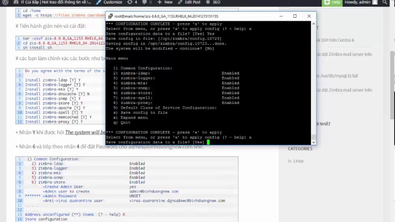 Hướng dẫn cài đặt Zimbra mail server trên Centos 6 8 – P2 - IT Cùi