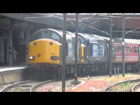 The Pennine & North Eastern Express, 37605 & 37607, York Station, 14.08.2013