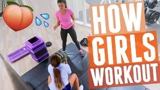 HOW GIRLS WORKOUT?! Our secrets to bigger butt and abs