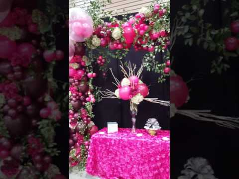 Organic Balloon arch and fresh floral