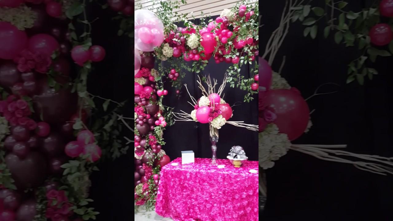 Organic Balloon arch and fresh floral Organic