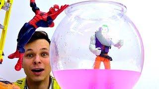 Федор и Человек Паук ловят Джокера! Видео про машинки.