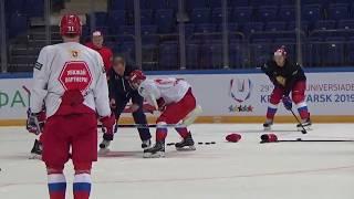 Мастер-класс Алексея Жамнова для центрфорвардов сборной России