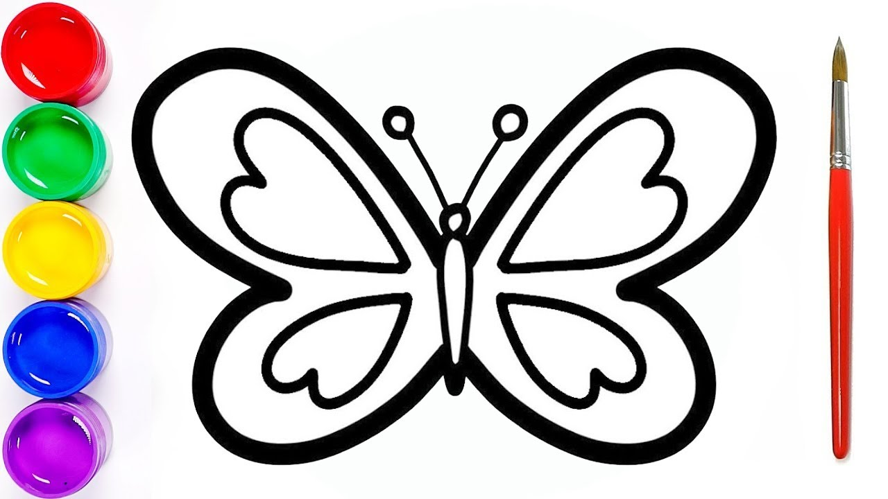Easy butterfly drawing step by step | How to draw a butterfly