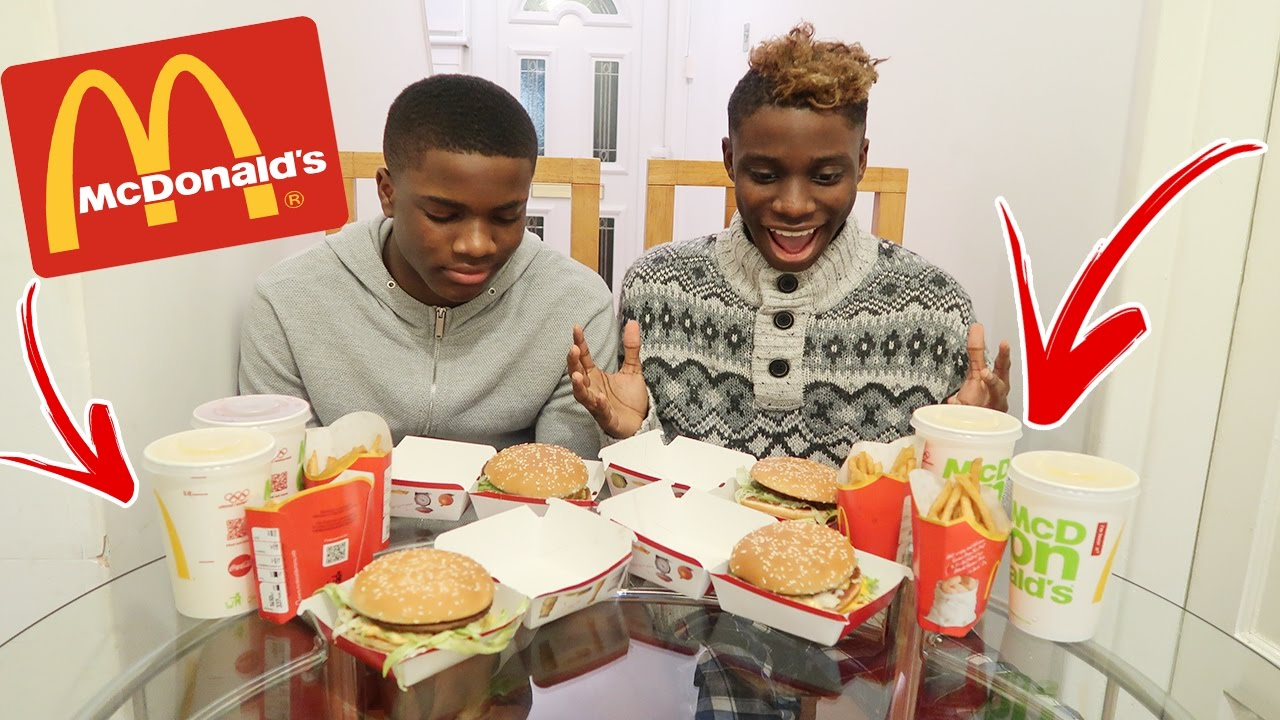 Mcdonalds Big Mac Burger Challenge Vs My Brother