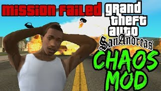 GTA San Andreas CHAOS MOD Speedrun - A New Chaotic Effect Every 30 Seconds!