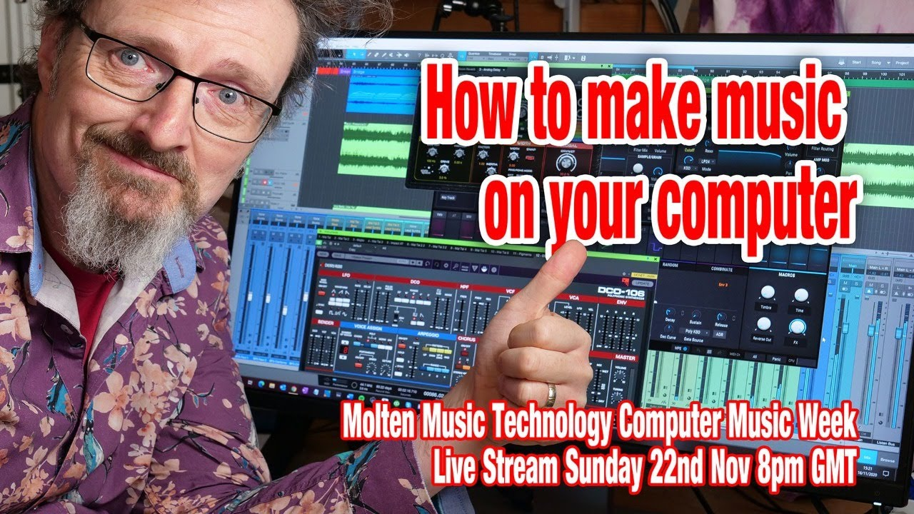 Computer Music Week How To Make Music On Your Computer Youtube