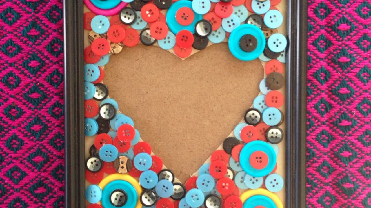 Make a Pretty Heart-Shaped Button Frame - Home - Guidecentral