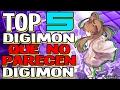 TOP 5 Digimon QUE NO PARECEN Digimon