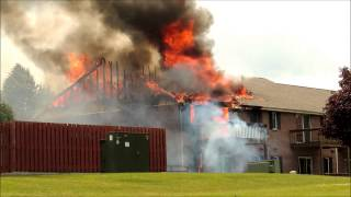Lakeland College apartment fire on June 21, 2015