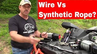 Wire Vs Synthetic Rope on Warn Winch - Pros & Cons with Fisher