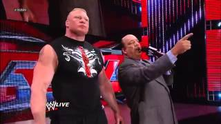 Triple H And Brock Lesnar Go Faceto-face Raw, May 13, 2013