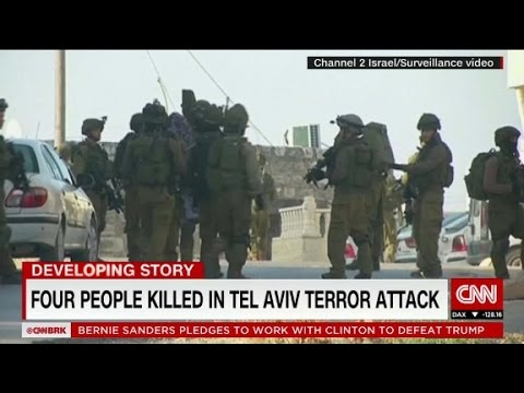 Israeli raids follow Tel Aviv terror attack