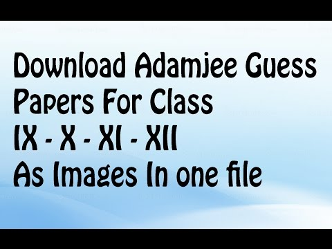 Download Adamjee Guess Papers For 9th-10th-11th-12th | Sindh Board