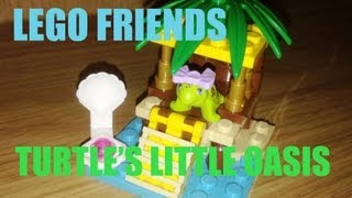 Lego Friends Turtle's Little Oasis Series 1 Playset - Toy Review 012