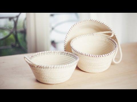 DIY Rope Baskets // DIY Paniers à corde