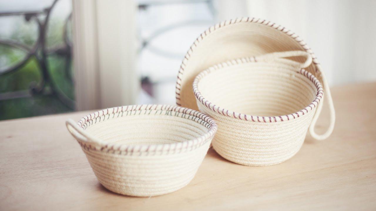 DIY Rope Baskets // DIY Paniers à corde - YouTube